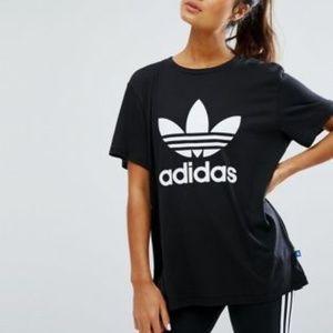 Adidas Big Trefoil Oversized Tee from Aritzia